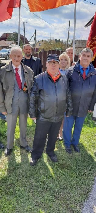 Открытие мемориальной доски Щербакову в Рузе