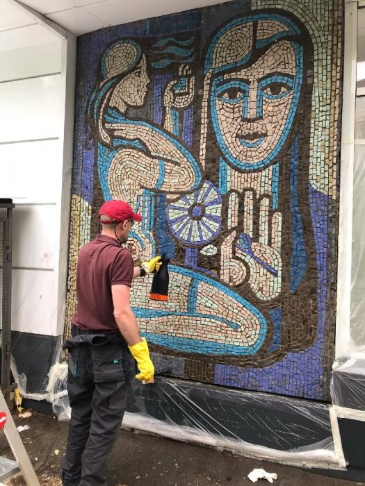 В Королёве коммунисты реставрируют советские мозаики!