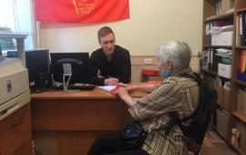 В Красногорском ГК КПРФ состоялся очередной прием граждан, попавших в трудную жизненную ситуацию