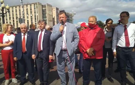 Выступление В.И. Кашина на встрече депутатов фракции КПРФ в ГД ФС РФ с жителями города Москва 24 июля 2021 года