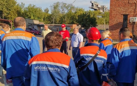 Встреча депутата-коммуниста Александра Наумова с работниками Мособлэнерго в Кашире