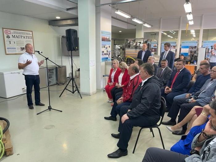 Продолжается рабочий визит руководителя фракции КПРФ в Госдуме Г.А. Зюганова в г.о. Фрязино на предприятии ЗАО НПП «Магратеп»