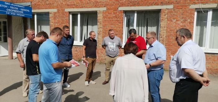 Встреча депутата-коммуниста Александра Наумова с работниками ОАО «Агросервис» в Кашире