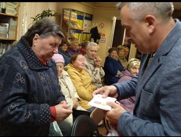 Награждение жителей села Молоди г.о. Чехов, памятными медалями