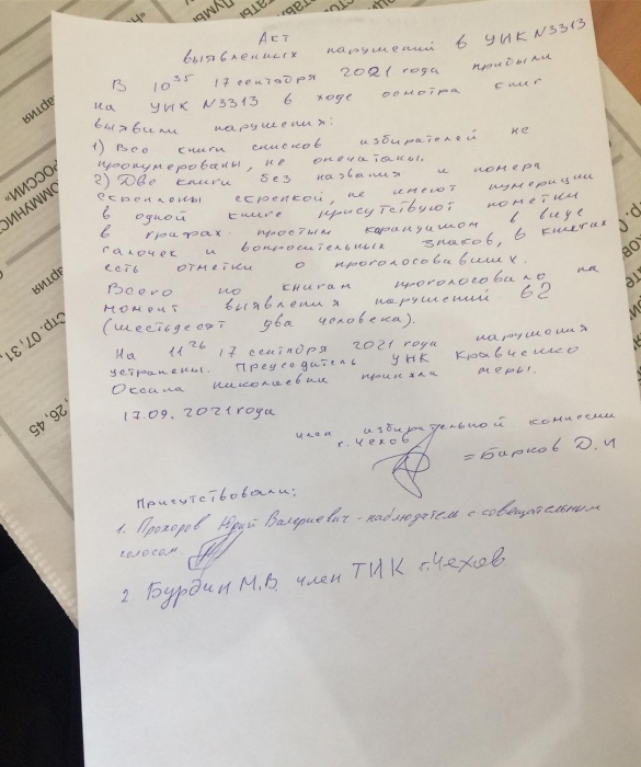 Нарушения в городском округе Чехов