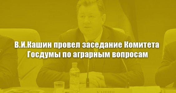 В.И. Кашин провел заседание Комитета Госдумы по аграрным вопросам